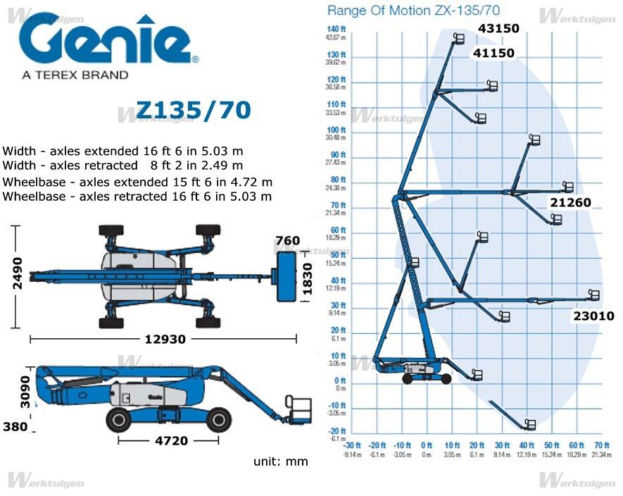 Xe nâng người Z-Boom Genie Z 135/70 - 44m làm việc